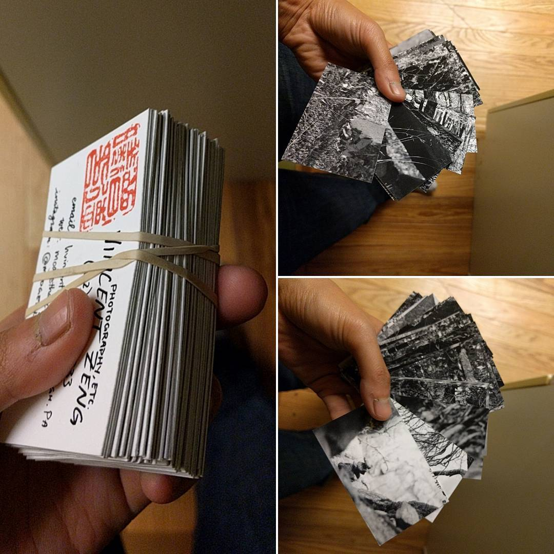 weirdly stoked about having just cut myself a million business cards with unique backs using a fucking mat knife and ruler